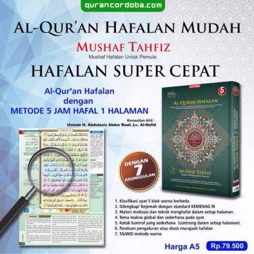Mushaf Tahfidz (Al-Qur'an Hafalan Mudah, Terjemah & Tajwid Warna)